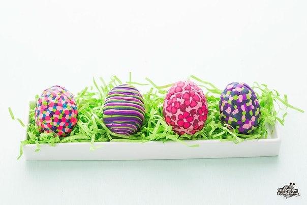 Праздничный декор яиц с помощью полимерной глины… (10 фото) - картинка