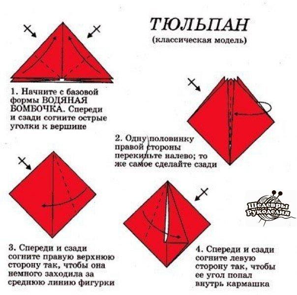Как сделать цветок тюльпана из бумаги своими