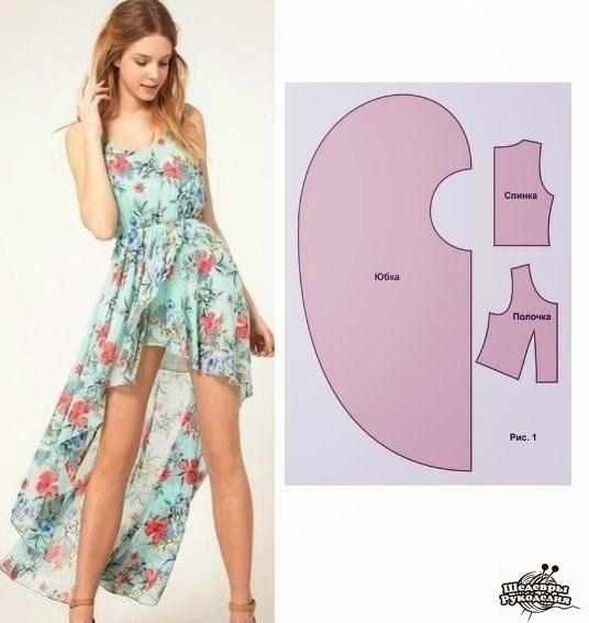 Шьем платья. Выкройки (7 фото) - картинка