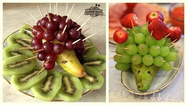 Как сделать 7 необычных поделок из фруктов, ягод и овощей… (10 фото) - картинка