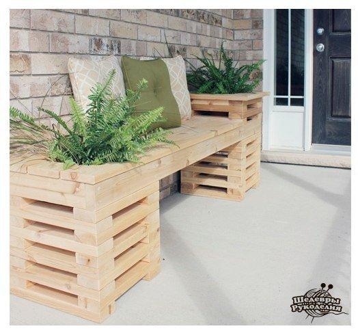 Идея необычной скамейки (3 фото) - картинка