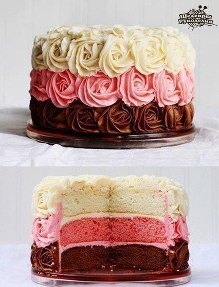 Тортики. Мини МК и хитрости! (10 фото) - картинка