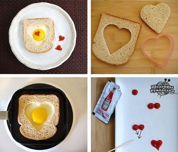 Превосходная идея для романтического завтрака… (1 фото) - картинка