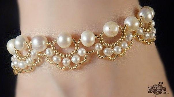 Схема плетения ожерелья или