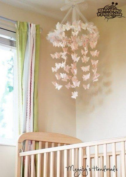 Мобиль с бабочками (5 фото) - картинка