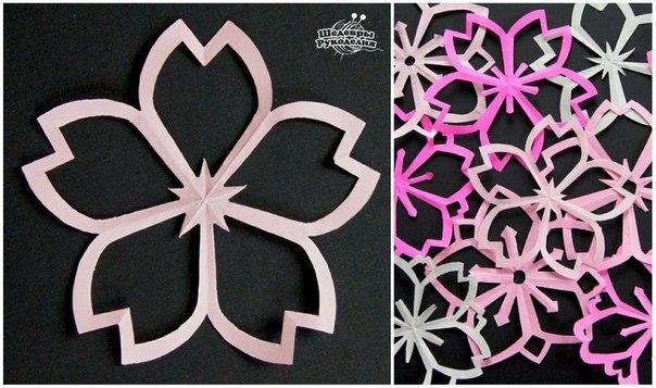 Вырезаем цветы из бумаги для декора комнаты или праздника… (9 фото) - картинка