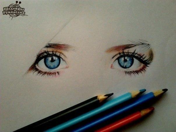 Рисунок цветными карандашами (1 фото) - картинка