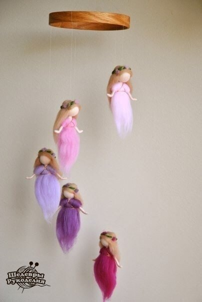 Волшебные феи из шерсти (9 фото) - картинка