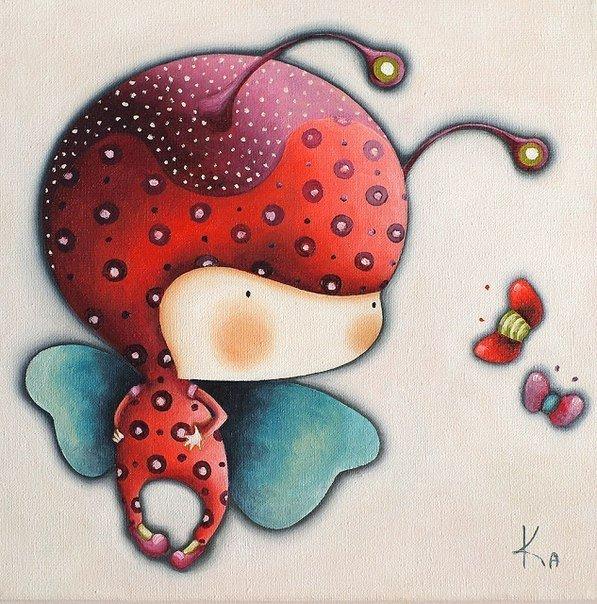 Забавные детские иллюстрации Екатерины Лукащук… (7 фото) - картинка