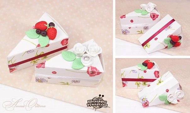 Коробочки в виде кусочков торта. (9 фото) - картинка