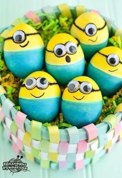 Яйца в виде миньонов (6 фото) - картинка