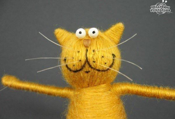 Как сделать кота из пробки, проволоки и ниток… (9 фото) - картинка