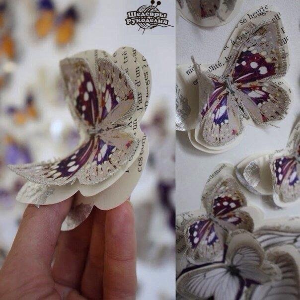 Декор бумажными бабочками (6 фото) - картинка