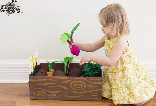 Фетровая грядка для детей. (8 фото) - картинка