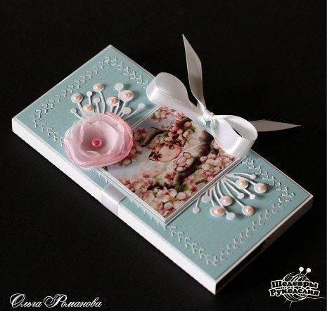 Шоколадные открытки. Отличная идея подарка: совмещаем приятное шоколадку с полезным денежкой :… (7 фото) - картинка