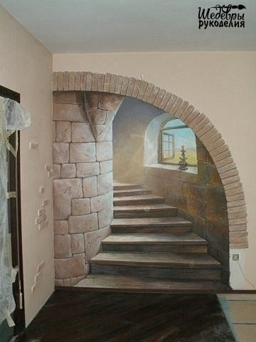 Идея декора стены (1 фото) - картинка