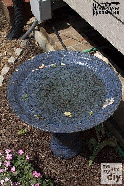 Декор Садовой вазы с помощью мозаики из старых CD-дисков… (10 фото) - картинка
