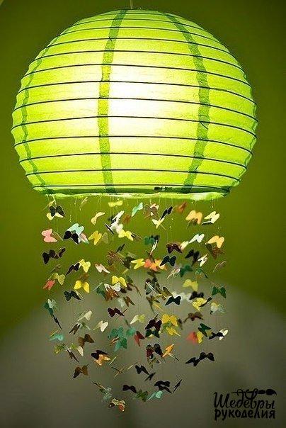 Мобиль или абажур с бабочками. Идеи.