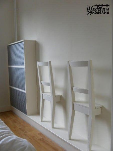 Идея для тех, кто любит вешать одежду на спинку стульев… (1 фото) - картинка