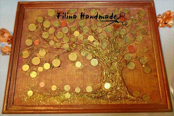 Как сделать денежное дерево панно своими руками
