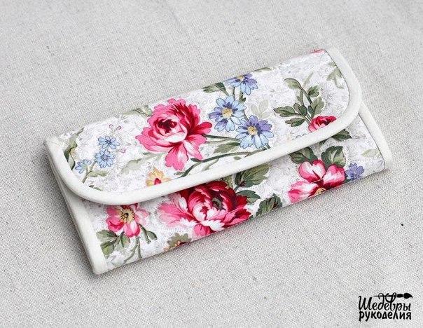 Шьём текстильный кошелёк (6 фото)