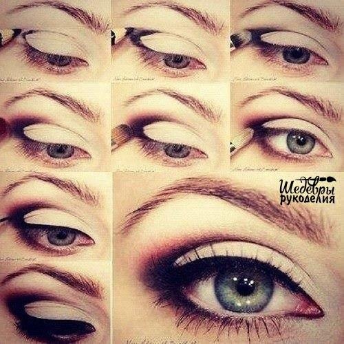 Стильный макияж с помощью карандаша и теней за пару минут!… (1 фото)