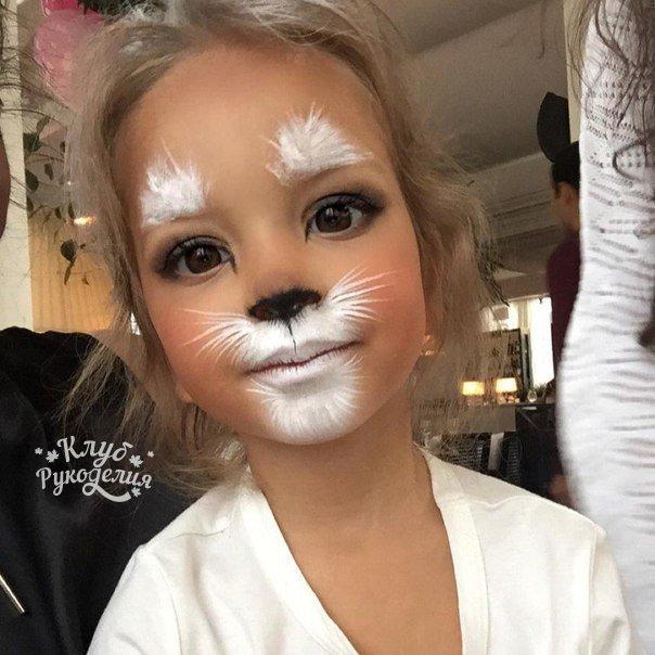 Милый макияж к Хэллоуину : (1 фото)
