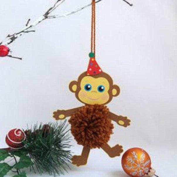 Поделки обезьянки на новый год своими руками