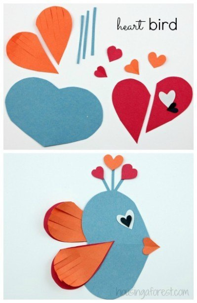 Аппликации из сердца