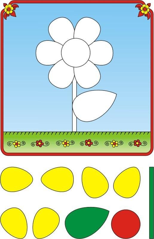 Шаблоны для поделок с ребенком 1-2 года