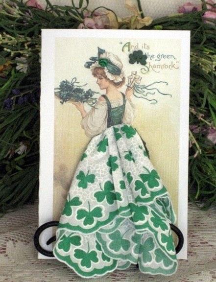 Авторские открытки, с использованием платочков…. (6 фото) - картинка