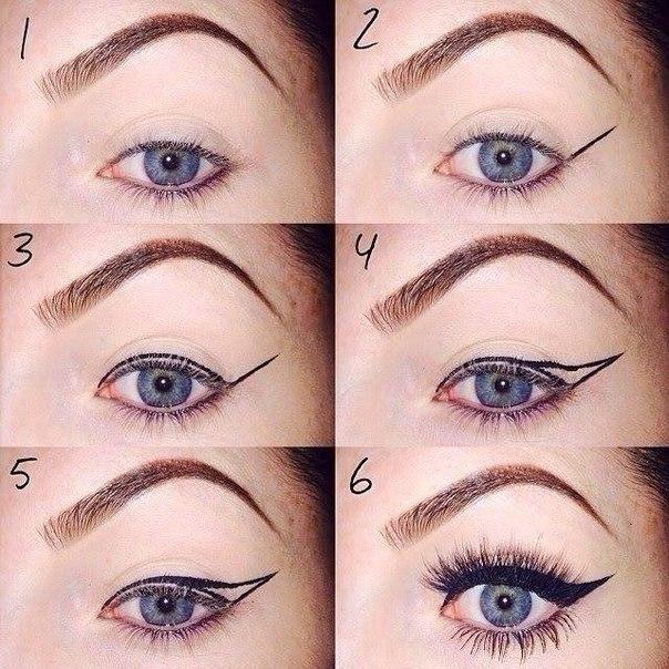 девочки, ощущая стрелки на глазах карандашом для начинающих фото легкий ментальный