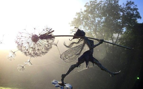 Скульптуры из проволоки от Robin Wight