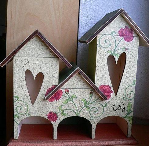 Чайные домики из фанеры