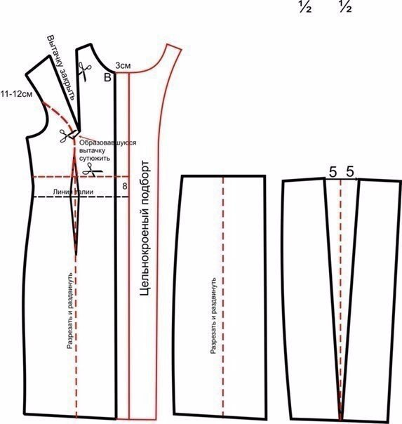 выкройка пальто без плечевого шва