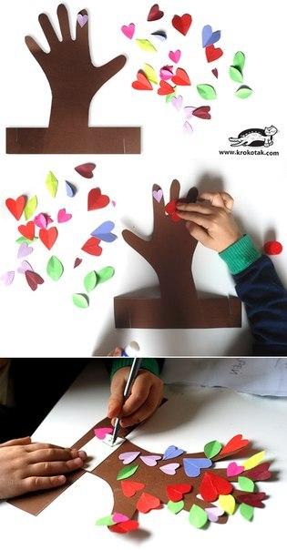 Дерево из бумаги для детей