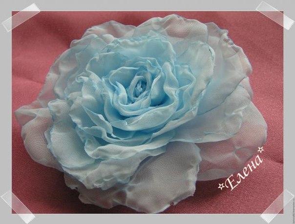 Роза из вуали (5 фото)