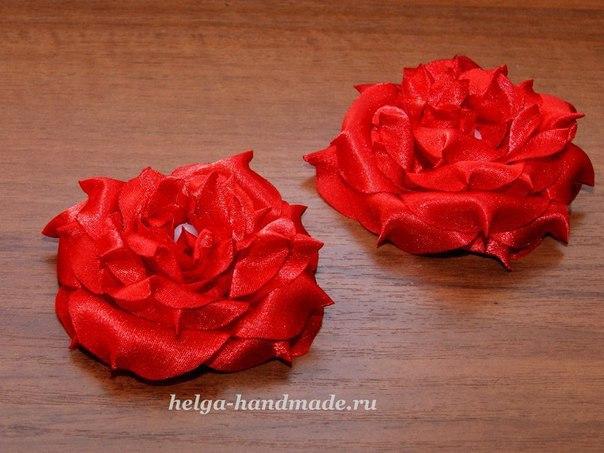 Цветы из ткани (5 фото) - картинка