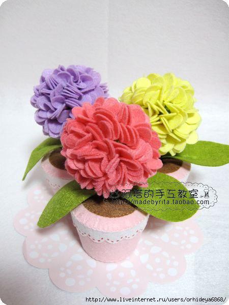 Горшочек с цветком своими руками