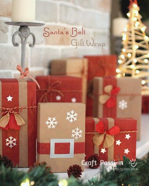 Идея упаковки новогоднего подпрка