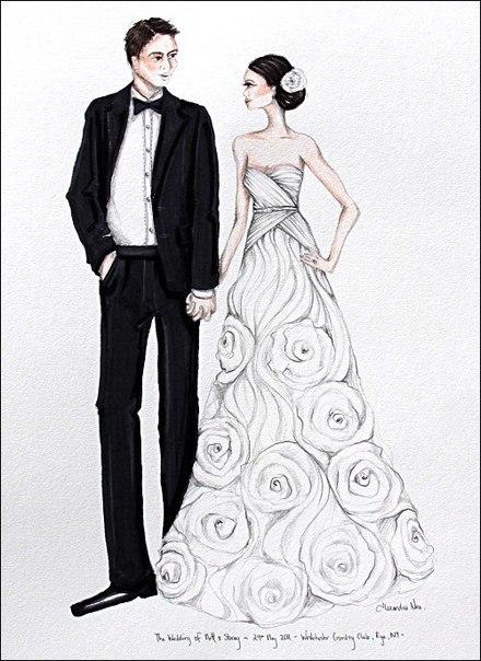 Свадебные иллюстрации (10 фото)