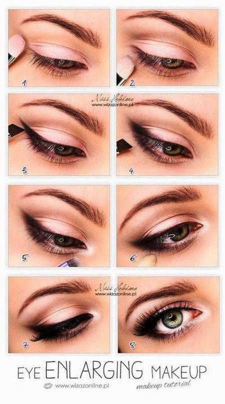 Карие глаза макияж пошаговое для начинающих