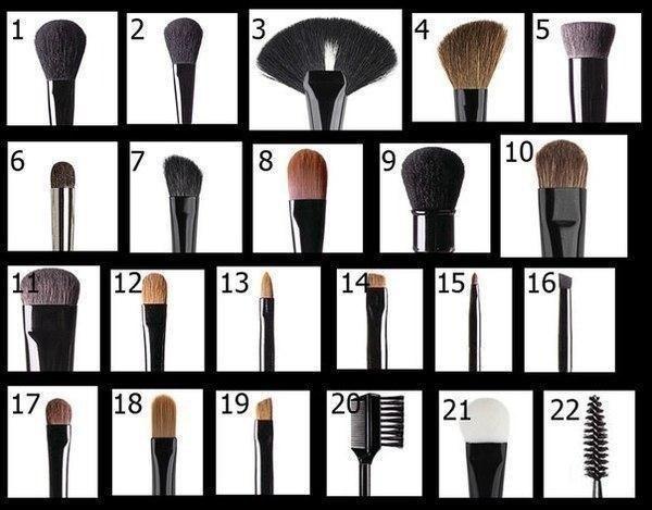 Применение кисти для макияжа