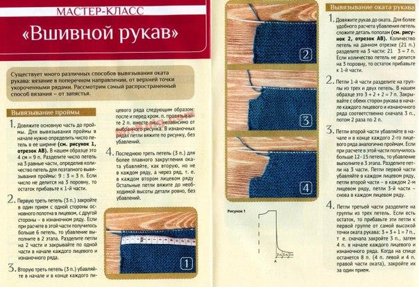 Вязание рукава мастер класс