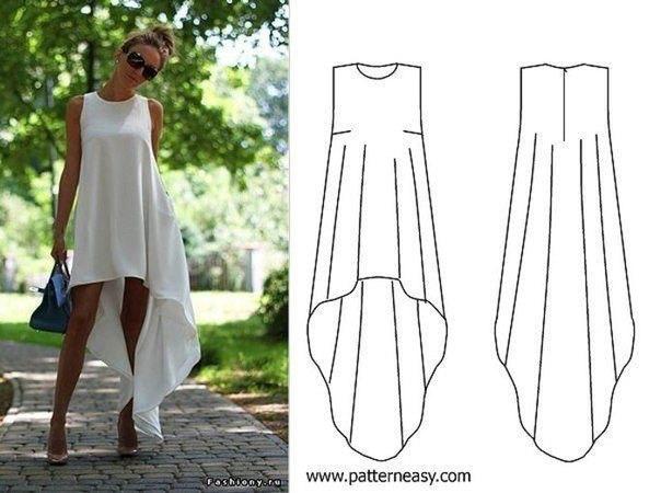 Сшить простое летнее платье длинное