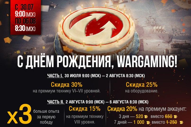 С ДНЁМ РОЖДЕНИЯ, WARGAMING!