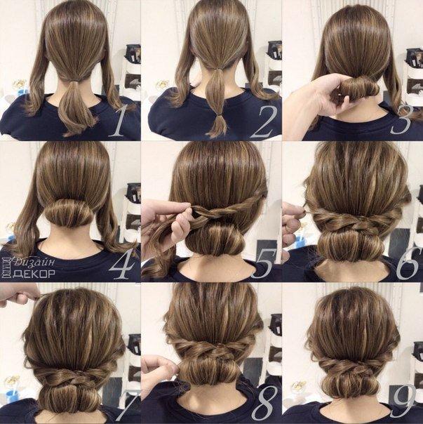 Прическа на длинные волосы своими руками простые