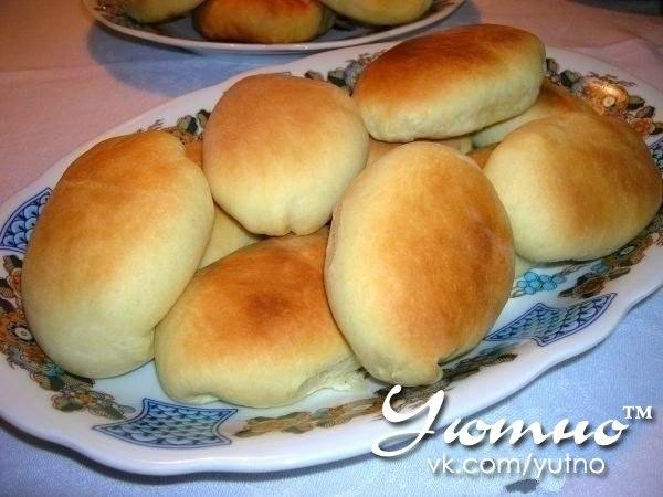 Пирожки из хрущевского теста с рисом и яйцом