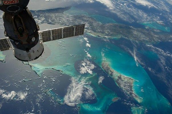 Карибские острова. Вид с МКС.