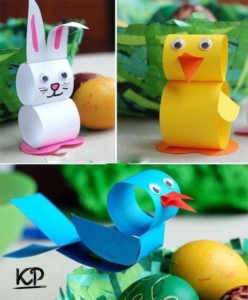 Забавные детские поделки из бумаги с шаблонами